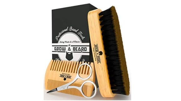 Keep that beard looking clean and vibrant with a beard care set.
