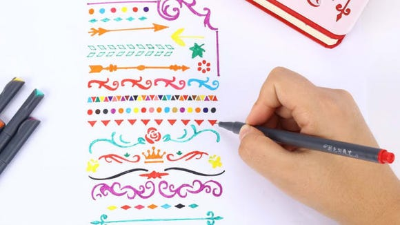 Use these incredible marker pens for note-taking, calendar writing, calligraphy, and drawing.