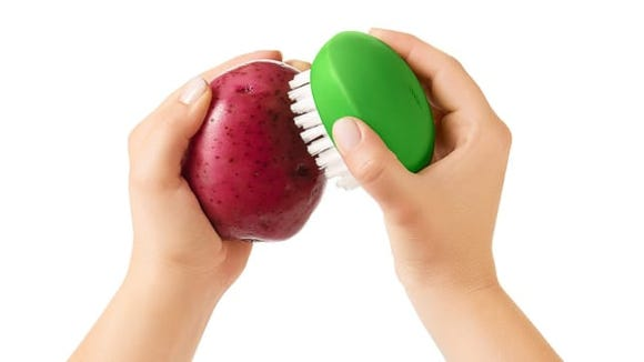 Keep those delicious peels clean and tasty by scrubbing with a vegetable brush.
