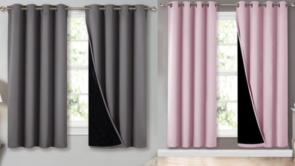 These curtains come in a variety of colors and sizes.