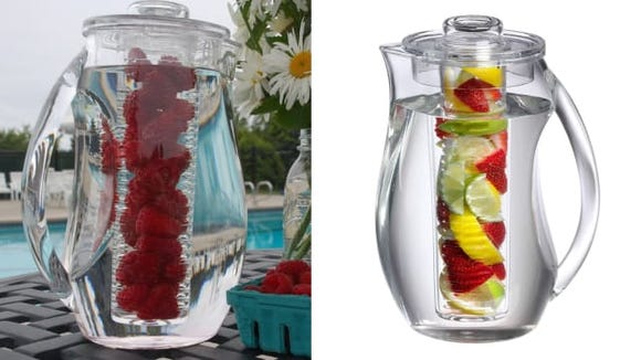 Make your own fruit-flavored water.