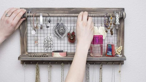 Show off your bling with this jewelry organizer.