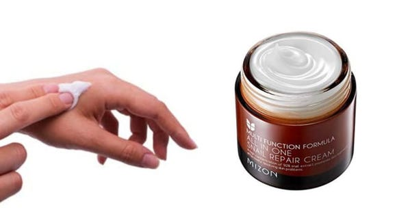 Reviewers swear by this cream, which is made with genuine snail extract.