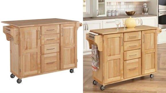 This is the perfect affordable alternative to installing a full kitchen island.