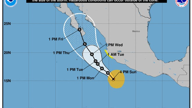 Hurricane Bud is forecast to affect the Mexican west coast and the U.S. Southwest.