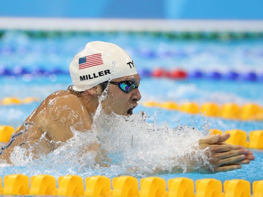 Olympic Swimming Breaststroke american cody miller third in men's 100 breaststroke