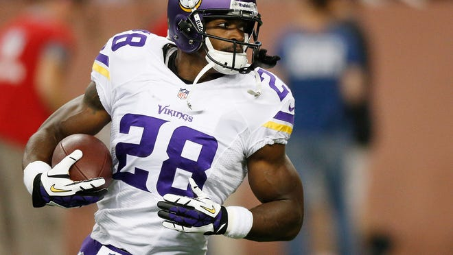 Adrian Peterson of the Minnesota Vikings was reinstated on Monday after missing Sunday's game after being indicted for child abuse.