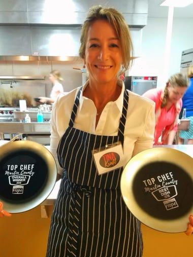 Local artist Tina Kraft won best dish and Top Chef