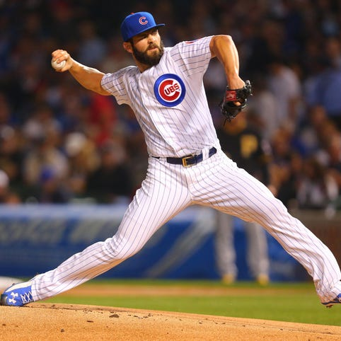 The Cubs' Jake Arrieta leads the majors with 21 wins and has a 0.44 ERA in his last 11 starts.