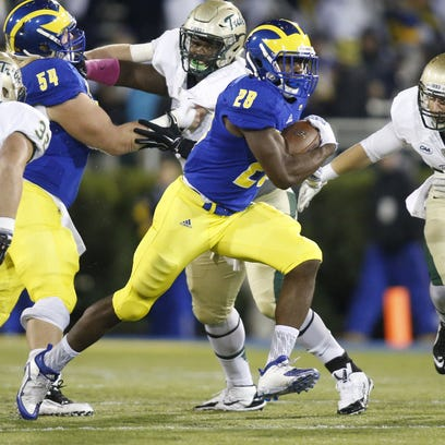 Delaware running back Thomas Jefferson was CAA rookie of the week for the second week in a row after his 174-yard effort against William & Mary Saturday.