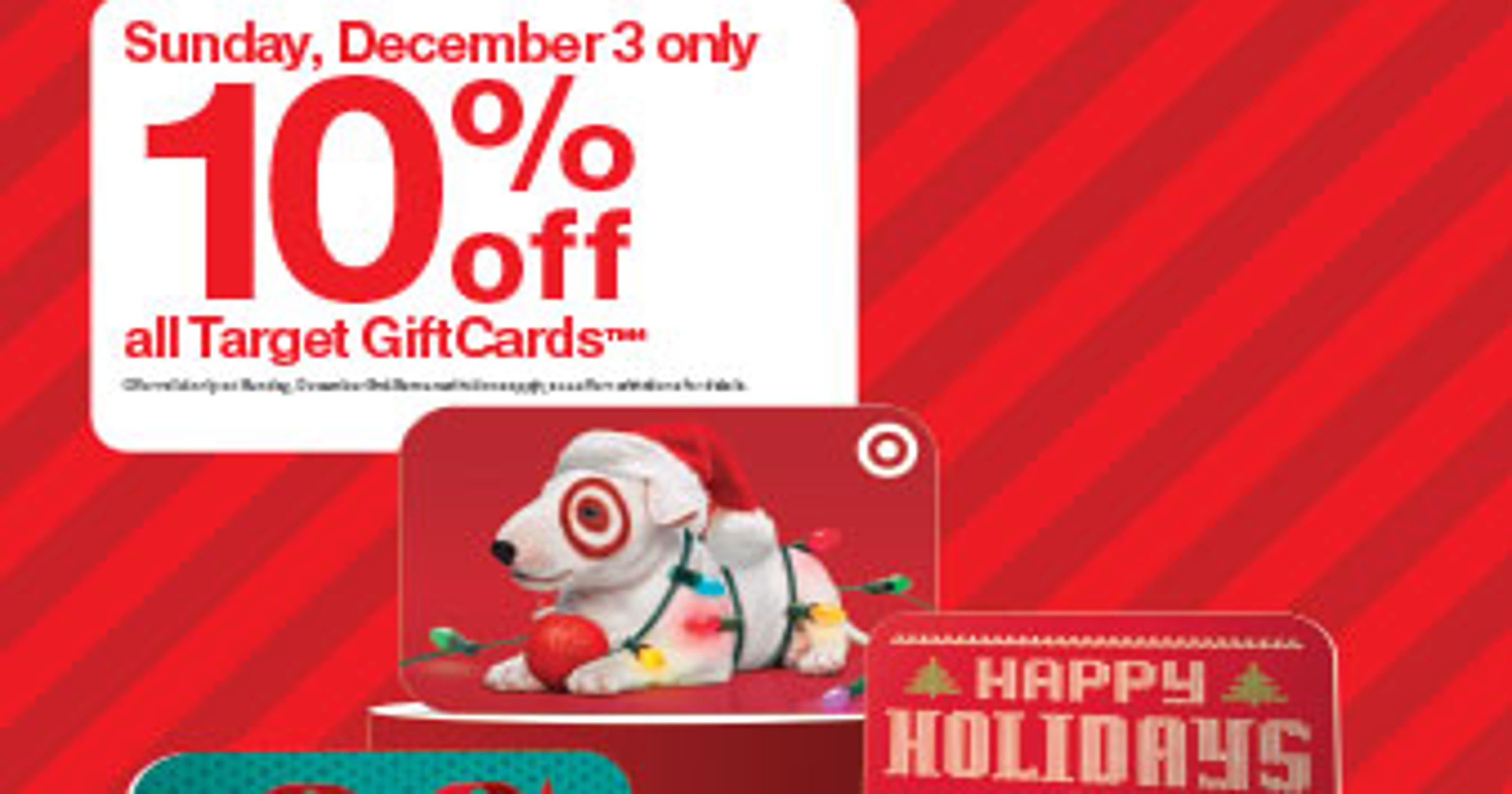 Savings alert: Don\'t miss Target\'s rare gift card sale Dec. 3