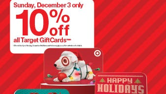 save 10 percent on target gift cards during rare one