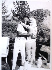 Buddy Greco with Marilyn Monroe in Lake Tahoe in 1962 in one of the last photos taken of Monroe.