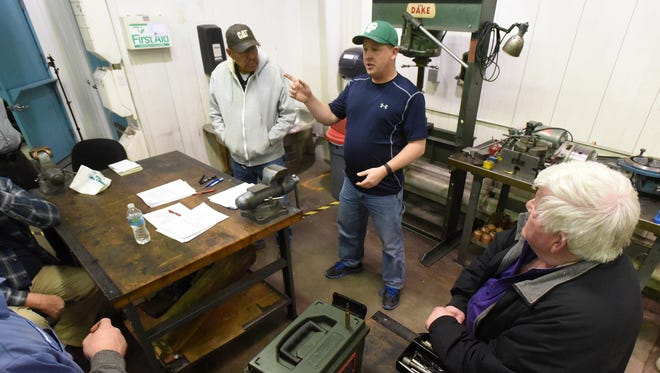 The gunsmithing class reconvenes on Wednesday at the machine shop at San Juan College in Farmington.