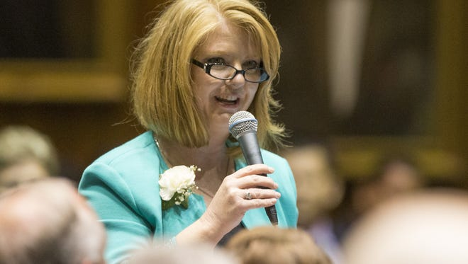 State Sen.-elect Heather Carter, R-Cave Creek, on Jan. 8, 2019, announced she would sponsor a bill this legislative session that will reclassify e-cigarettes as tobacco products.