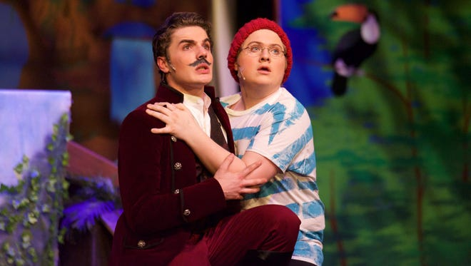 """Colerain High School students performing """"Peter and the Starcatcher."""""""