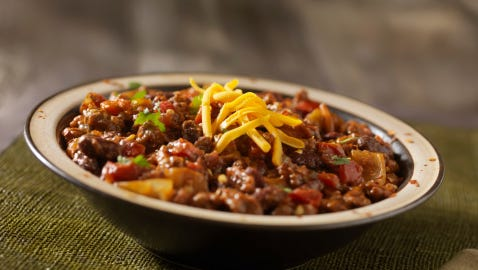 Chili with Beans and Cheddar Cheese