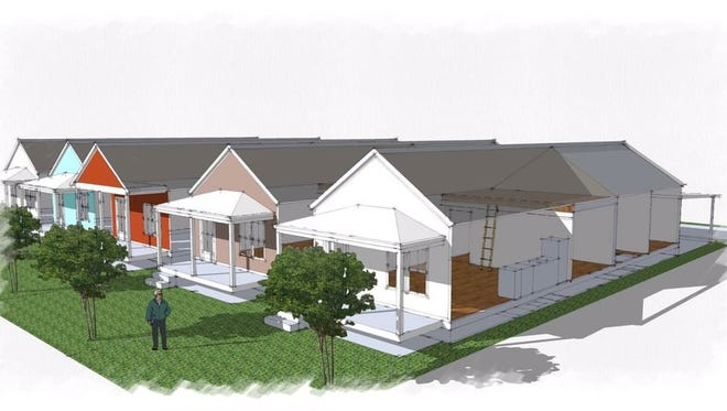 This is an artist's rendering of the homes being built in the new Springhill development.