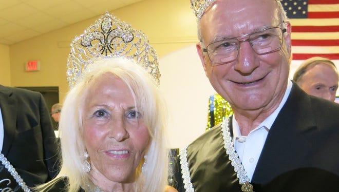 The 2017 Krewe Elders Queen LaWanda Turner and King Rick Turner at the coronation.
