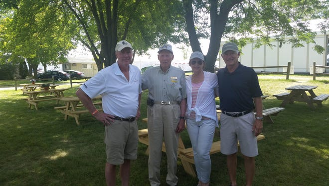 Flying is a family thing for Jeff Gorman, Jim Gorman, Gayle Gorman Green and Rich Green, who are all pilots and attend EAA AirVenture regularly