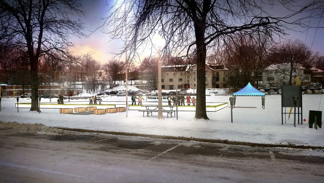 The new East Lansing outdoor ice rink will not open Thursday as scheduled.