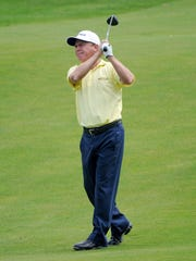 Jeff Sluman played in the final group in the fourth round of the 2008 Senior PGA Championship.