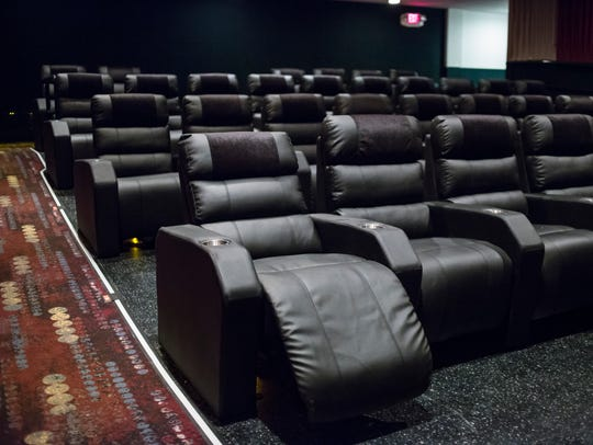 New leather reclining seats have been installed in