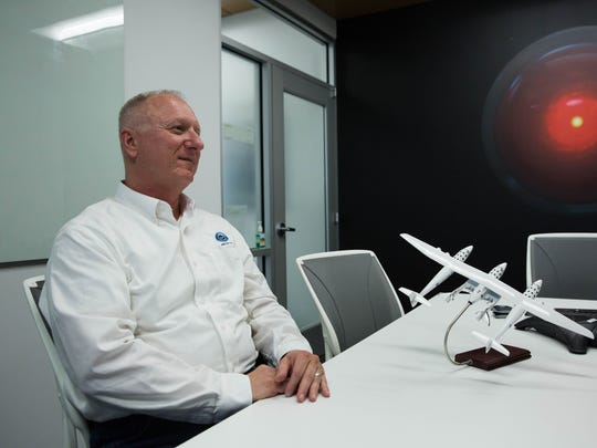 Pete Nickolenko, chief engineer for Virgin Galactic, has moved to Las Cruces and works out of the company's offices on Roadrunner Parkway. Monday May 8, 2017.