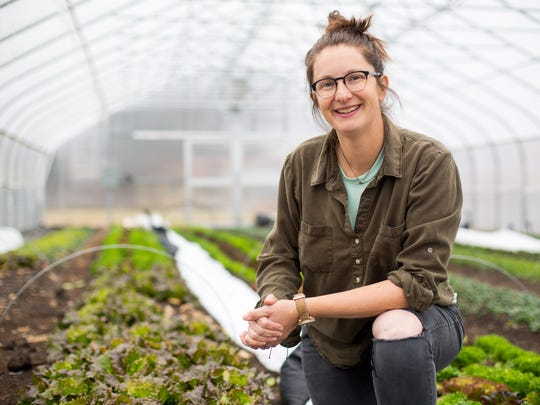Jenny Quiner, owner of Dogpatch Urban Gardens in her