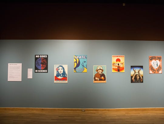 """The """"What's Your Las Cruces"""" exhibit is currently on display at the Branigan Cultural Center. The exhibit is interactive and encourages Las Cruces residents, and those of the surrounding Mesilla Valley, to bring in photos and share issues that are important to them. Thursday Febuary 1, 2018."""
