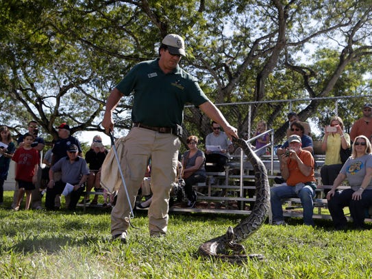 Jeffrey Fobb, of the Florida Fish and Wildlife Conservation