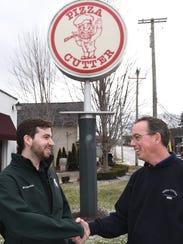Jim Delano, right, retiring from running the ovens
