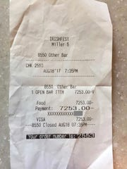 When Melissa Miller ordered a beer at Irish Fest, she was mistakenly charged $7,253. Workers at the beer stand tried to undo the transaction, and they gave Melissa this slip showing that the exorbitant charge had been voided. Unfortunately, the confusion was just beginning.