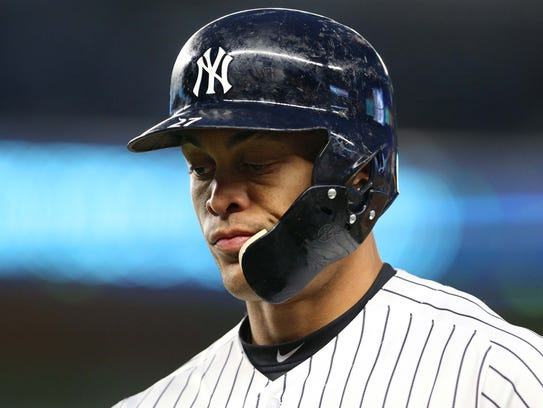 Giancarlo Stanton is now 3-for-35 at Yankee Stadium.
