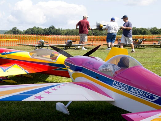The Giant Scale Radio Control Airshow hosted by the Binghamton Aereos took place this weekend at the Chenango Bridge Airport.