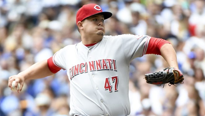 Reds right-hander Sal Romano allowed seven runs on eight hits in five innings in Sunday's start against the Brewers.