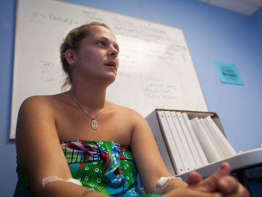 Melissa Grzybowski, 31, of New Castle, worries she might have hepatitis C. She took a blood test at a Connections Community Support Programs clinic in Newark to find out.