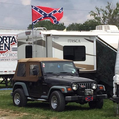 Gregg Doyel spots confederate flags at the Brickyard