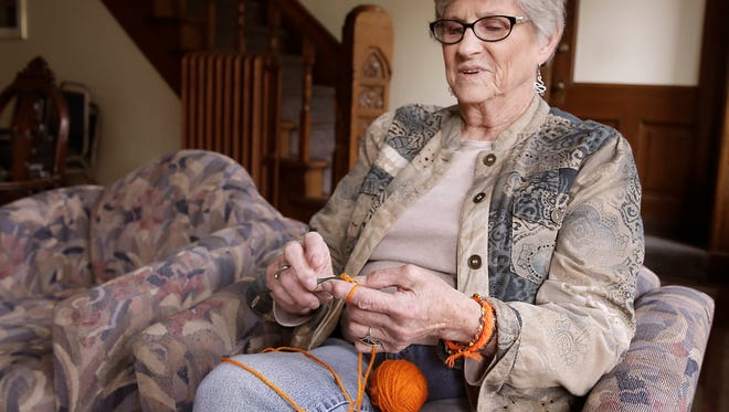 Cary Fellman, 82, is responding to nationwide school shootings by creating and giving out orange yarn bracelets in favor of reasonable gun legislation. Fellman plans to attend a school walkout on March 14 and stand in solidarity with the students.