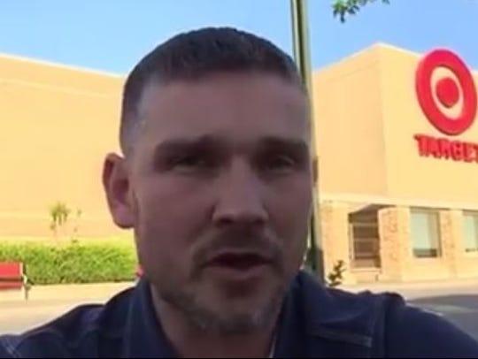 A still from Pastor Greg Locke's video blasting Target's