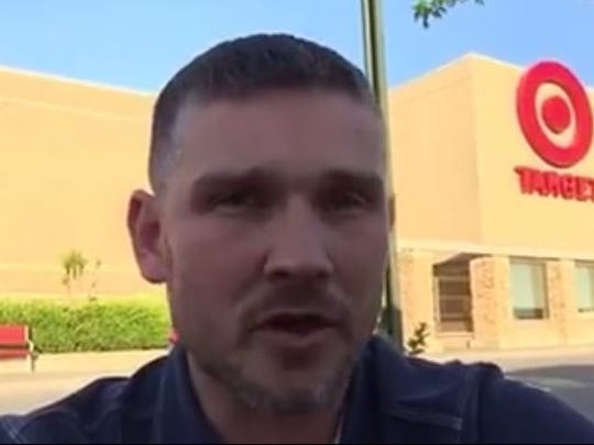 A still from Pastor Greg Locke's video blasting Target's bathroom policy, which allows customers to choose the restroom for the gender with which they self-identify. This video has more than 17 million views on Facebook.