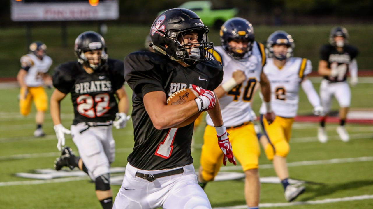 Pinckney senior Nick Cain had one of the best individual performances ever by a Livingston County football player Friday against South Lyon, scoring four touchdowns, throwing for one, intercepting a pass and catching a 2-point pass.