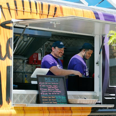 Owner of Whole-E Roasters food truck Chris Marmo and