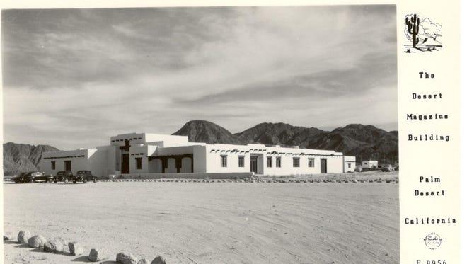 Desert Magazine building postcard.