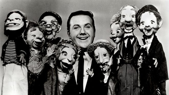 Chuck McCann with Paul Ashley puppets in the early Sixties.