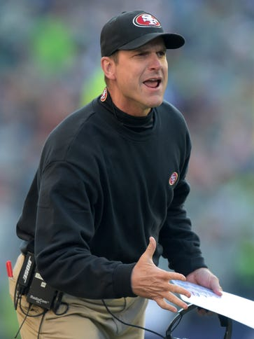Jim Harbaugh has one year left on his contract with