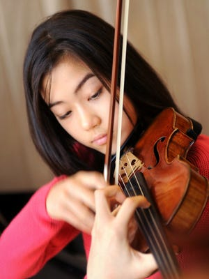 Claire Wells, a 14-year-old violin virtuoso, will join pianist Pamela Pyle for a free Camerata Musica concert at 2:30 p.m. Nov. 1 in Loucks Auditorium at Salem Public Library.