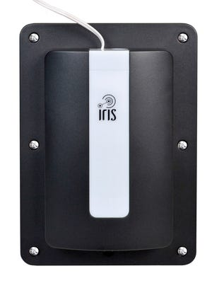 The Lowe's IRIS smart garage door controller system allows you to open and close the door from anywhere with an iPhone or Android app.
