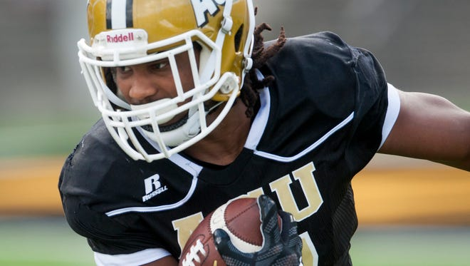 Alabama State's Khalid Thomas has rushed for 680 yards and six touchdowns this season.