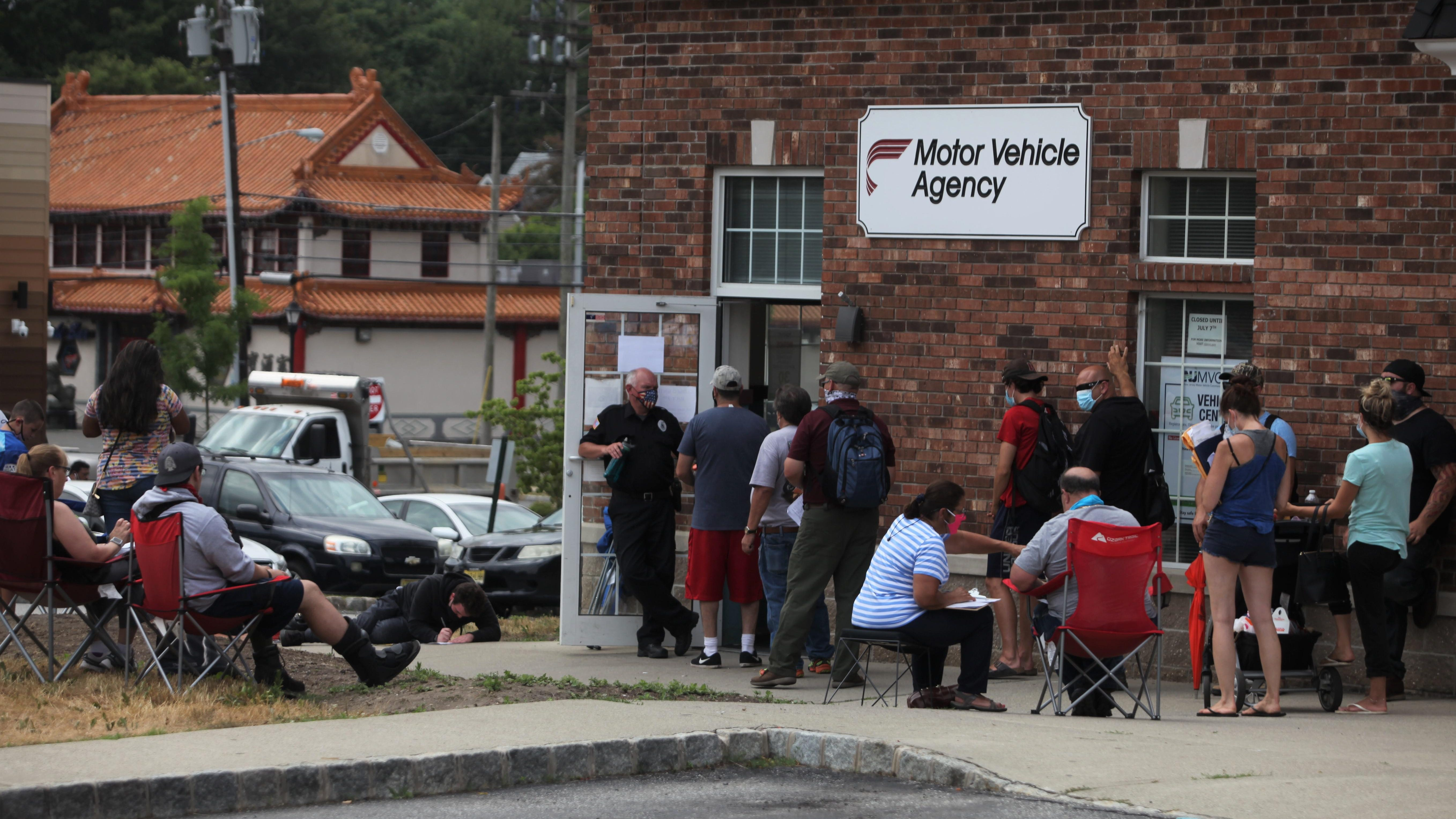 Long Lines As Newton Motor Vehicle Office Reopens After 3 Months